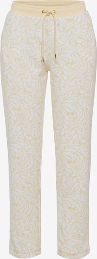 Olsen Hose in pastellgelb / weiß, Produktansicht