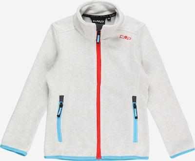 Jachetă  fleece funcțională CMP pe turcoaz / roșu / alb murdar, Vizualizare produs