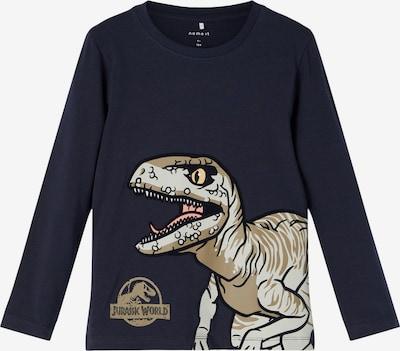 NAME IT T-Shirt 'Jurassic' en sable / bleu marine / blanc cassé, Vue avec produit