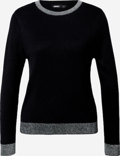 ONLY Пуловер 'Cherry' в черно / сребърно, Преглед на продукта