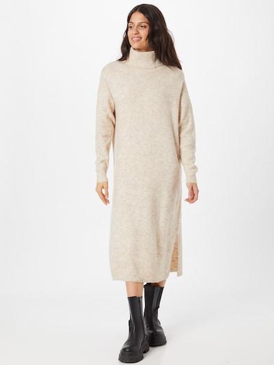 SISTERS POINT Pletena haljina 'LUI-DR' u pijesak, Prikaz modela