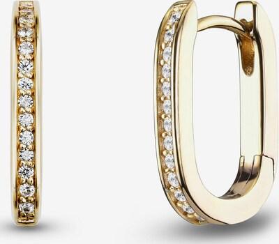 JETTE Ohhringe in gold / transparent, Produktansicht