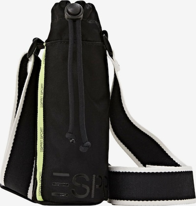 ESPRIT Schoudertas in de kleur Lichtgeel / Zwart / Wit, Productweergave