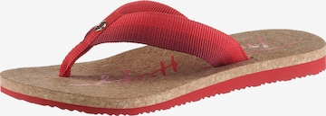 TOMMY HILFIGER T-Bar Sandals in Red