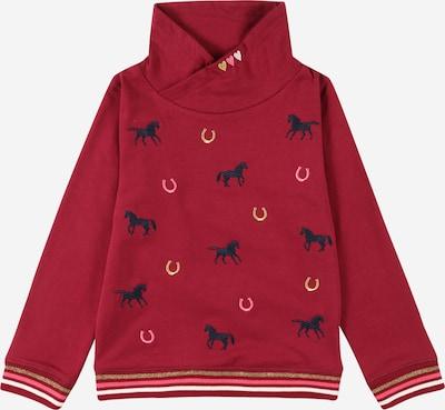 SALT AND PEPPER Sweatshirt in navy / gold / hellpink / rotviolett, Produktansicht