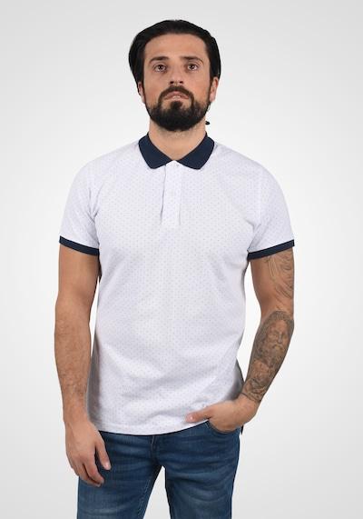 BLEND Poloshirt 'Alaron' in schwarz / weiß: Frontalansicht