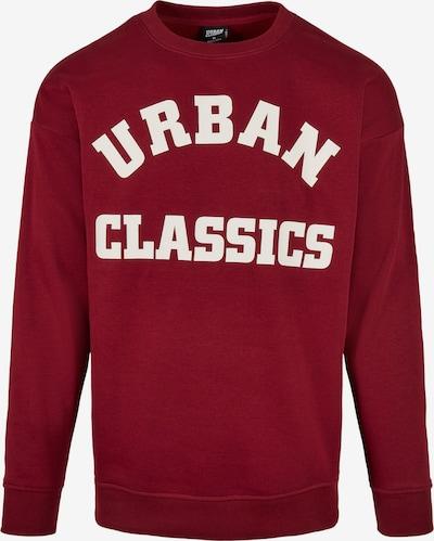 Urban Classics Sweatshirt in burgunder / weiß, Produktansicht