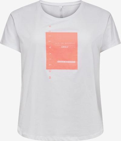 Only Play Curvy Shirt 'MAGNY' in koralle / weiß, Produktansicht