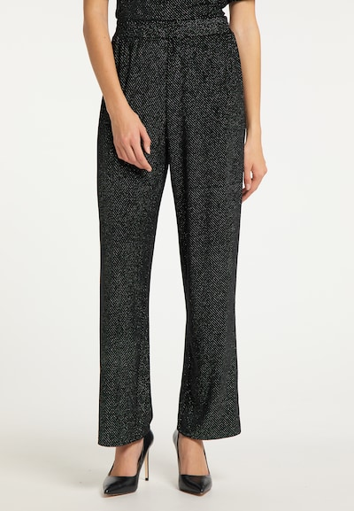 Pantaloni myMo at night pe negru / argintiu, Vizualizare model
