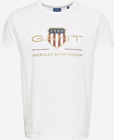 GANT Shirt in blau / gold / dunkelrot / weiß, Produktansicht