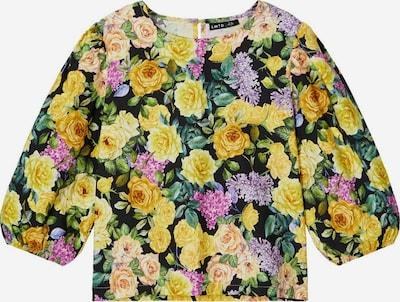 NAME IT Bluse in gelb / flieder / schwarz, Produktansicht