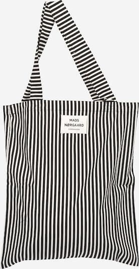 MADS NORGAARD COPENHAGEN Shopper 'Sacky Atoma' i sort / offwhite, Produktvisning