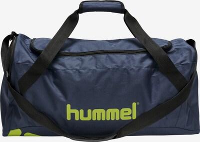 Hummel Sporttas in de kleur Nachtblauw / Neongeel, Productweergave