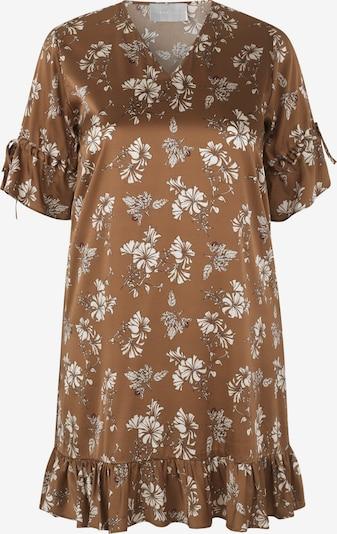 INAN ISIK Seidenkleid 'Rosa' in braun, Produktansicht