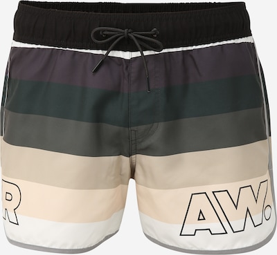 G-Star RAW Badeshorts i creme / antracit / mørkegrøn / hvid, Produktvisning
