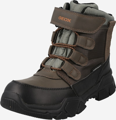 GEOX Snow boots 'NEVEGAL' in Green / Orange / Black, Item view