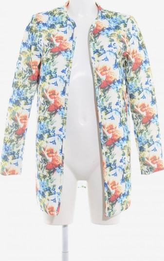VERO MODA Lange Jacke in S in creme / blau / grasgrün: Frontalansicht