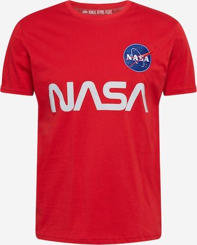ALPHA INDUSTRIES Tričko 'NASA' - modrá / světle červená / bílá, Produkt