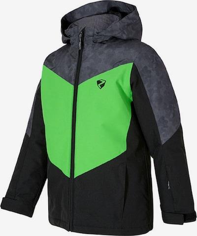ZIENER Skijacke 'Avan' in graumeliert / kiwi / schwarz, Produktansicht
