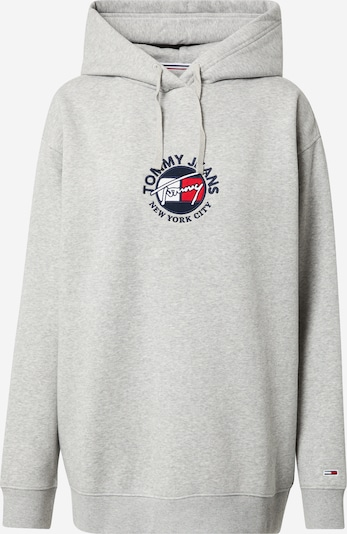 Tommy Jeans Sweatshirt in Navy / Light grey / Red / White, Item view