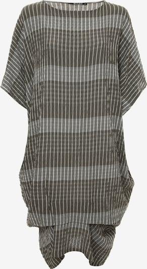 Madam-T Oversizekleid 'Alunessa' in grau / khaki, Produktansicht