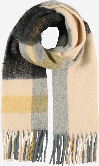PIECES Šalle 'BEA', krāsa - bēšs / debeszils / dzeltens / melns, Preces skats