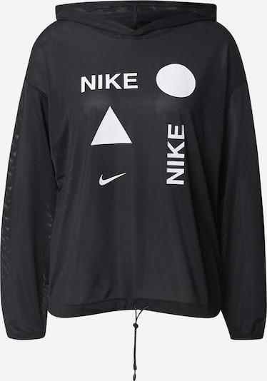 NIKE Sportska sweater majica u crna / bijela, Pregled proizvoda