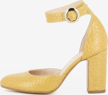 Escarpins à bride arrière EVITA en jaune
