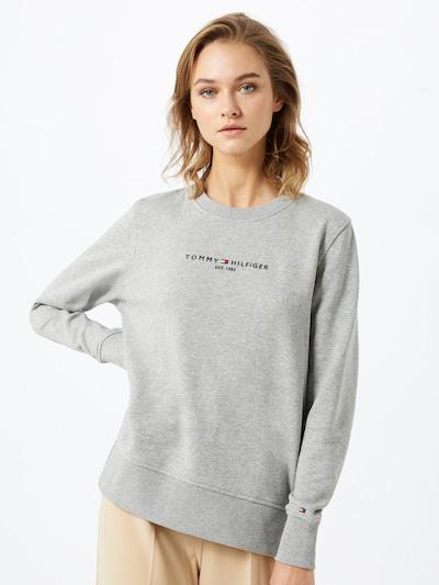 TOMMY HILFIGER Sweat-shirt en gris chiné / noir: Vue de face