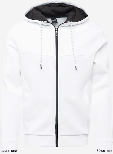 Hanorac 'Saggy 1' BOSS ATHLEISURE pe negru / alb, Vizualizare produs