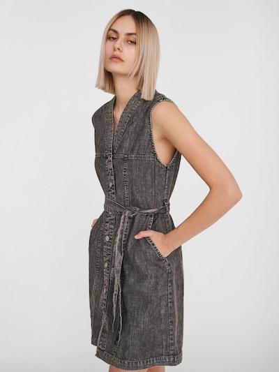 Noisy may Vestido 'Verita' en negro denim, Vista del modelo