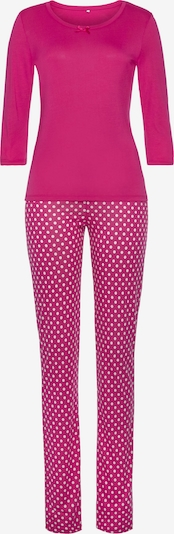 VIVANCE Pyjama in pink / weiß, Produktansicht