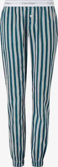 Calvin Klein Underwear Pantalon de pyjama en gris chiné / pétrole / noir / blanc, Vue avec produit