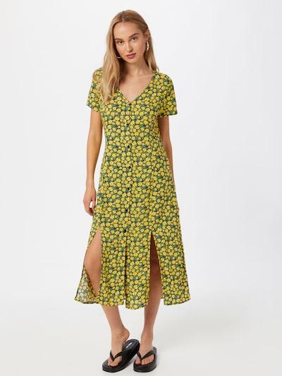 LTB Košilové šaty 'NADILO' - námořnická modř / žlutá / zelená, Model/ka