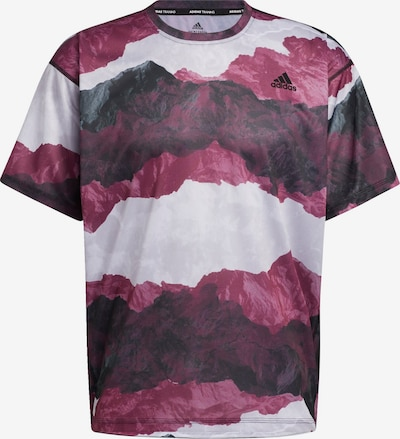 ADIDAS PERFORMANCE T-Shirt fonctionnel 'Earth Graphic' en gris / violet / violet pastel / noir / blanc, Vue avec produit
