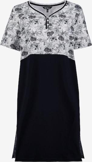 Ulla Popken Nachthemd in schwarz / weiß, Produktansicht