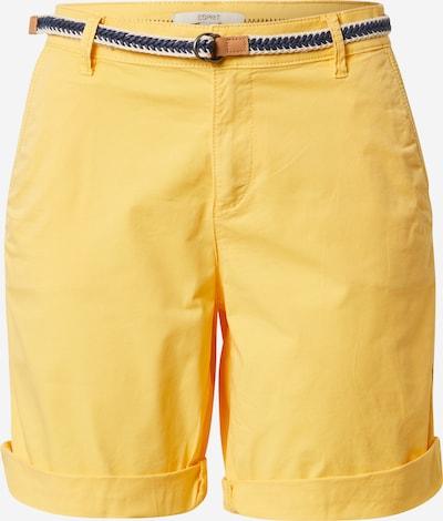 ESPRIT Панталон в жълто: Изглед отпред