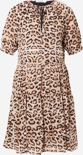 NA-KD Kleid en beige / braun / schwarz, Vue avec produit