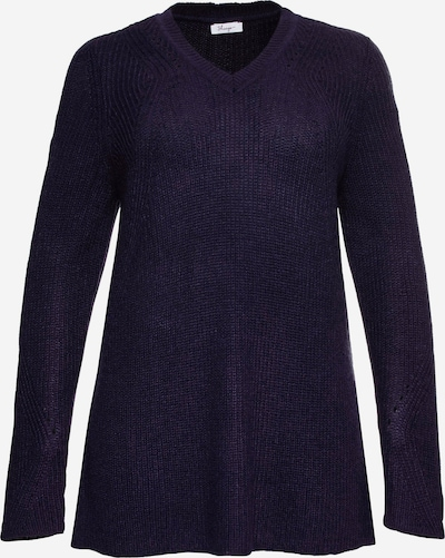SHEEGO Pullover in dunkellila, Produktansicht