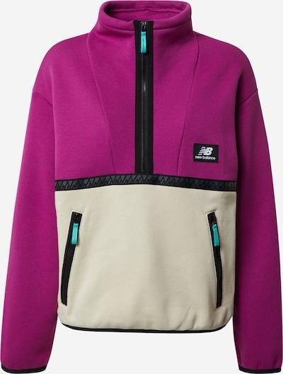 new balance Sweatshirt 'Trail' in beige / fuchsia / schwarz, Produktansicht