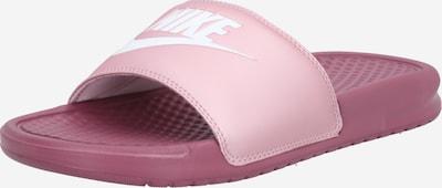 Saboți 'Benassi Just Do It' Nike Sportswear pe fruct de pădure / roz, Vizualizare produs