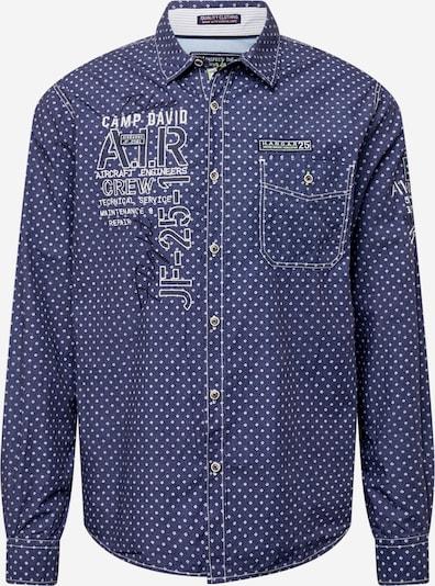 CAMP DAVID Skjorta i marinblå / svart / vit, Produktvy