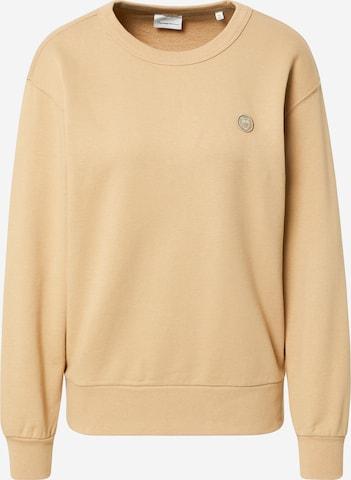 KnowledgeCotton Apparel Sweatshirt 'DAPHNE' i beige