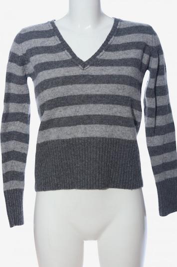Castro V-Ausschnitt-Pullover in L in hellgrau / schwarz, Produktansicht