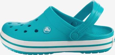 Crocs Pantolette 'Crocband' in türkis / weiß, Produktansicht