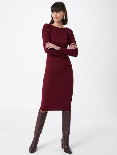 Dorothy Perkins Kleid in burgunder, Modelansicht