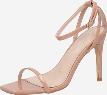 GLAMOROUS Sandale 'Barely' in Beige