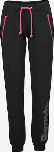 BENCH Sweatpants in grau / pink / schwarz, Produktansicht