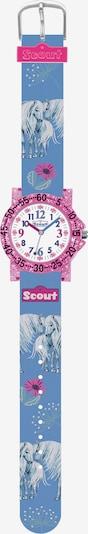 SCOUT Uhr in opal / taubenblau / pink, Produktansicht