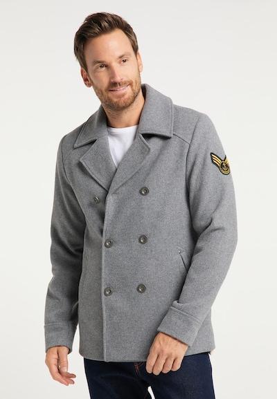 DreiMaster Maritim Mantel in grau, Modelansicht